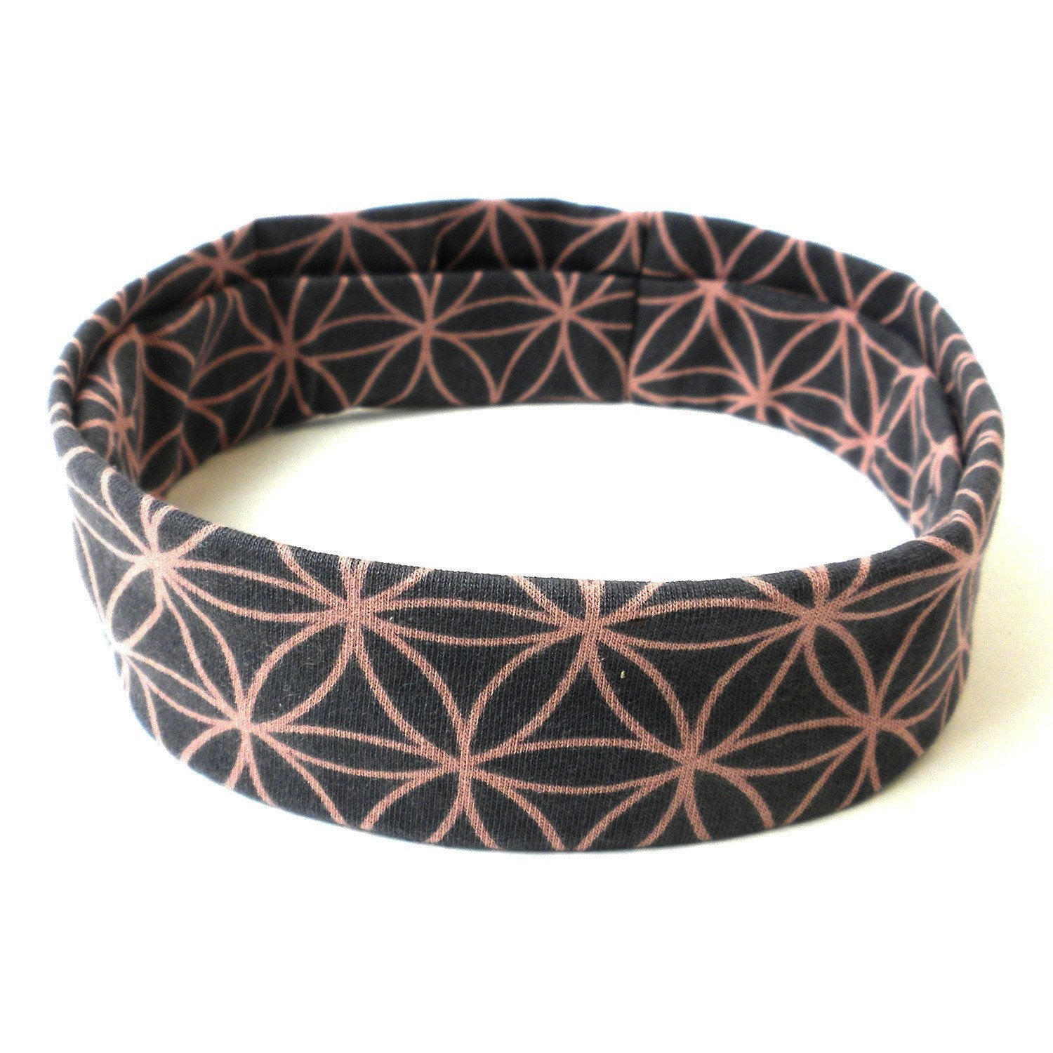 Flower of Life Headband - Grey