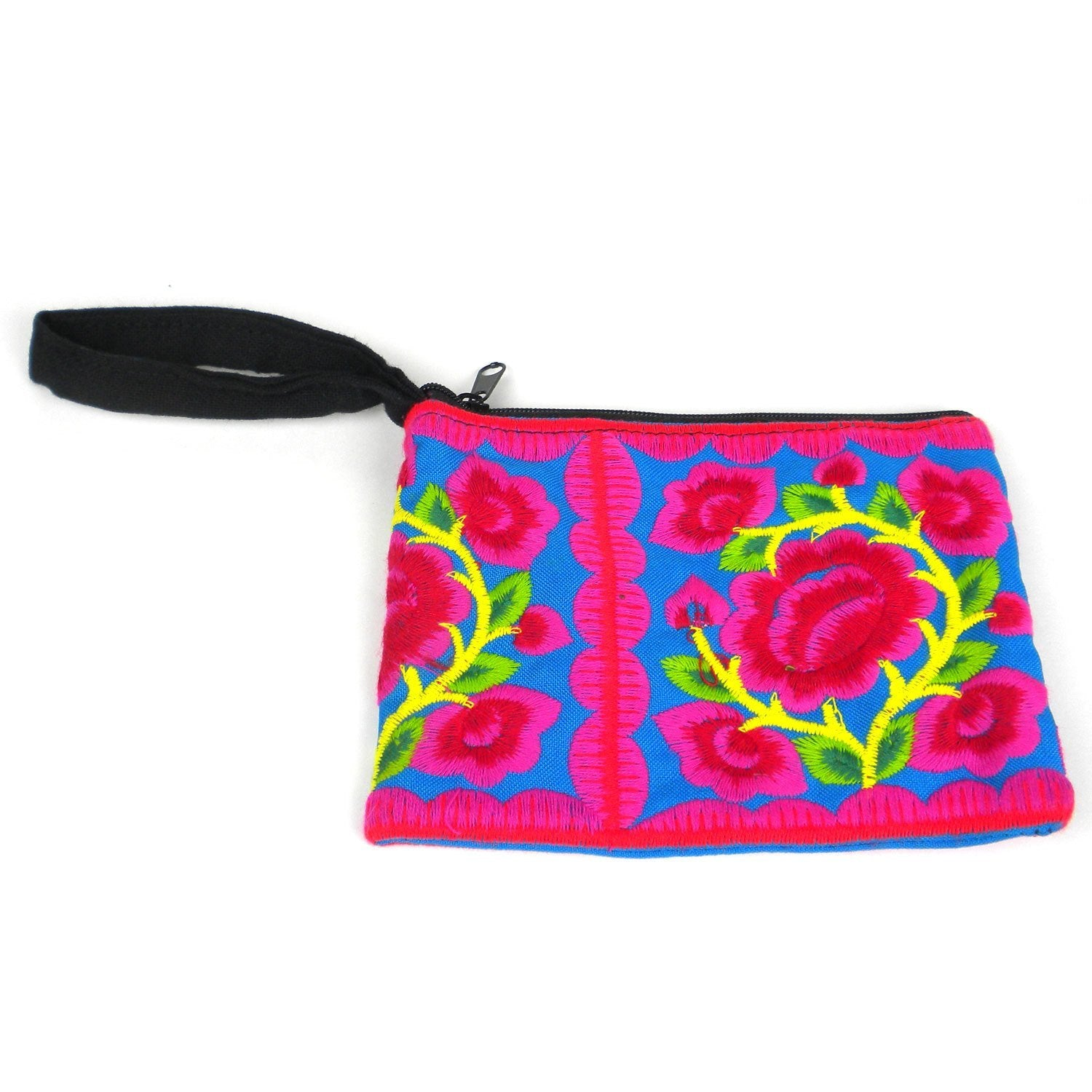 Hmong Embroidered Coin Purse - Blue
