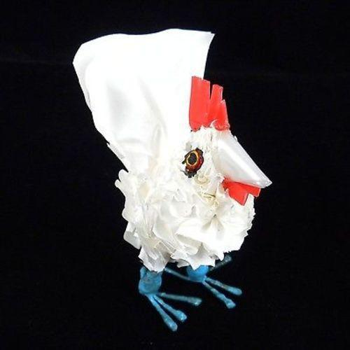 Recycled Plastic White Baby Chicken Handmade and Fair Trade