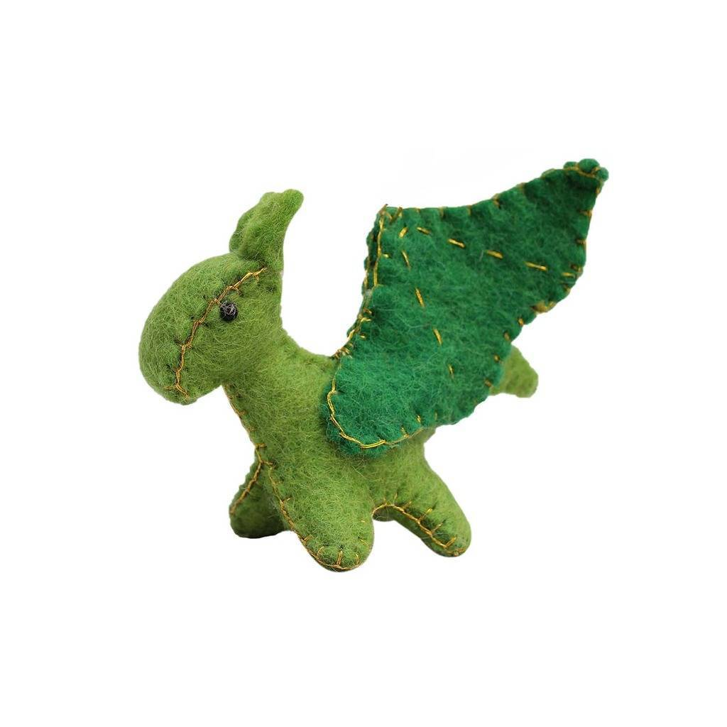 Felt Green Dragon Toy