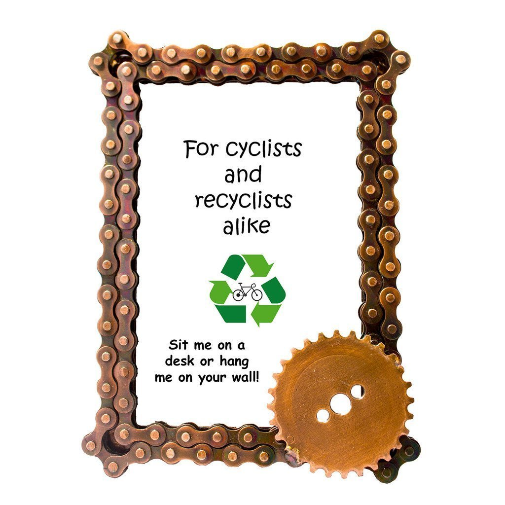 Bicycle Chain and Gear Photo Frame