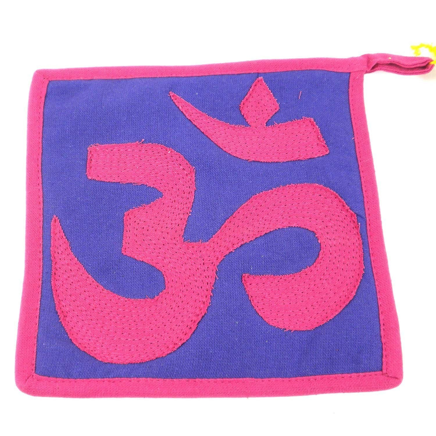 Om Hot pad - Pink and Purple