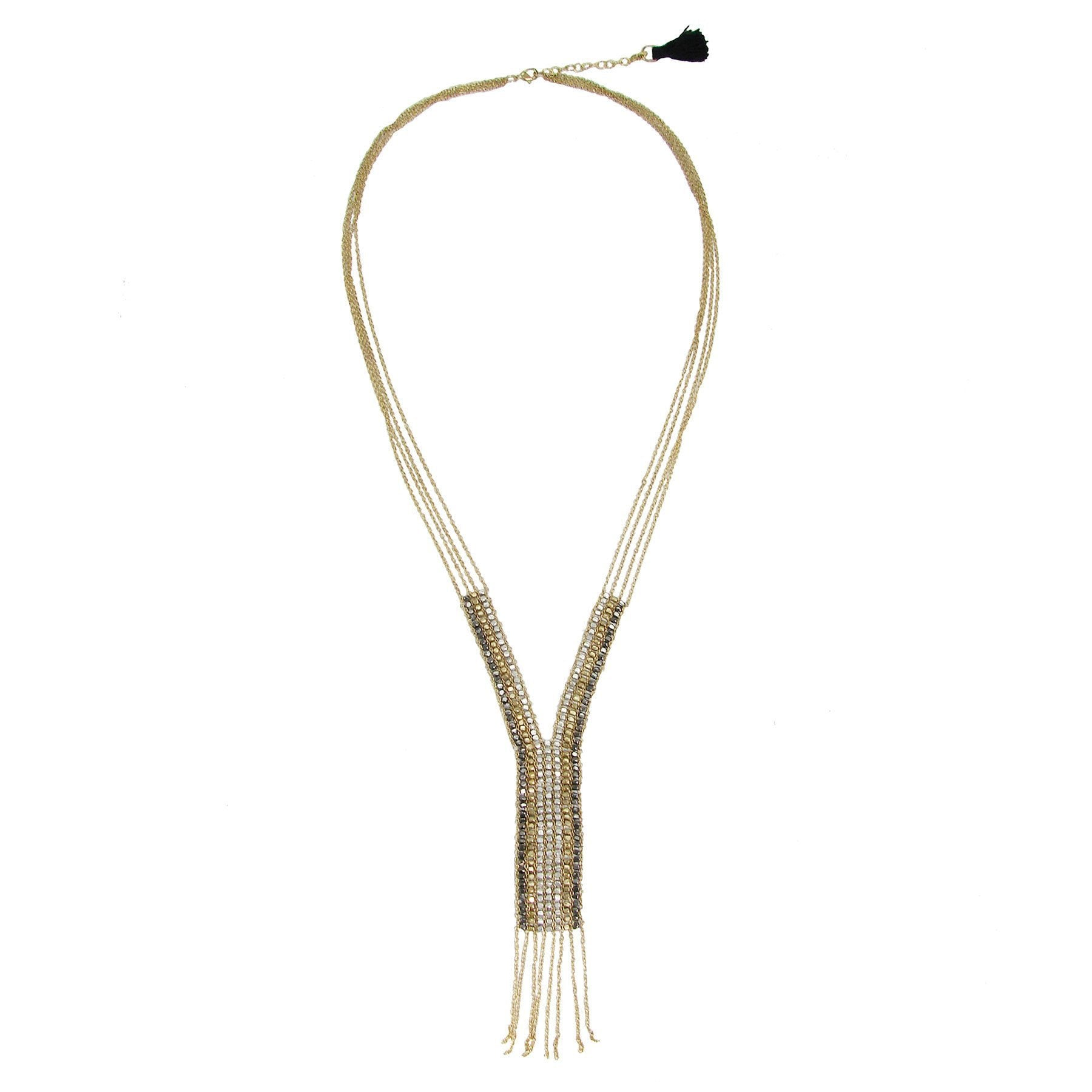 Fringed Y Necklace