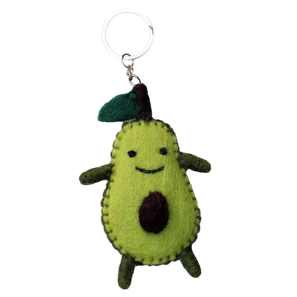 Felt Avocado Key Chain
