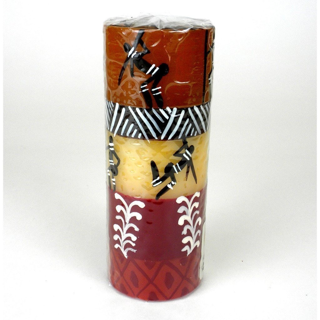 Hand Painted Tall Pillar Candle - Damisi Design