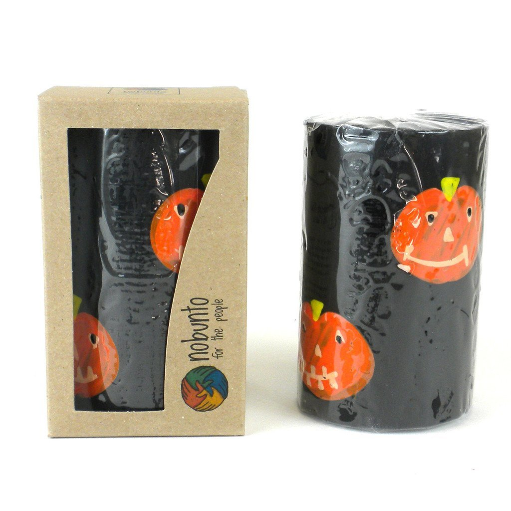 Hand Painted Pillar Candle in Gift Box - Halloween Design