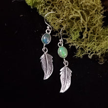 Load image into Gallery viewer, Feather Opal Earrings