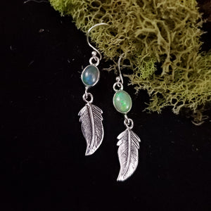 Feather Opal Earrings