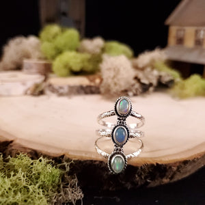 Power of 3 Opal Ring