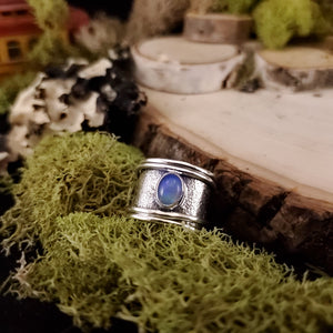 Thick Band Artisan Opal Ring
