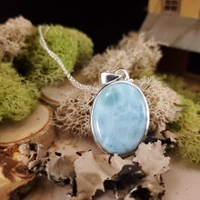 Load image into Gallery viewer, Oval Larimar Pendant