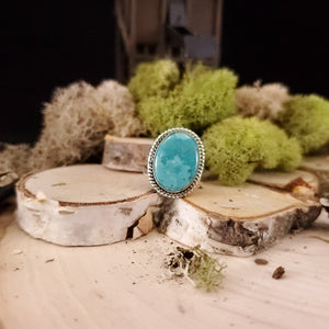 Turquoise Oval Decorative Ring