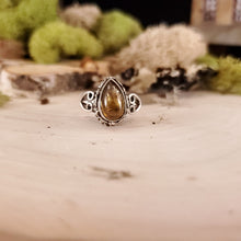 Load image into Gallery viewer, Ornate Brown Tourmaline Ring