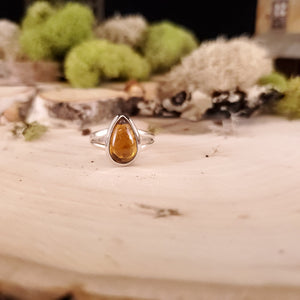 Honey Brown Tourmaline Teardrop Ring