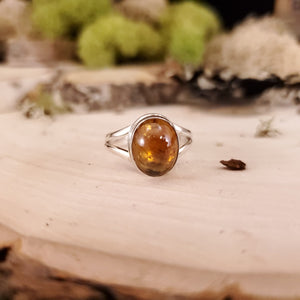 Honey Brown Tourmaline Oval Ring