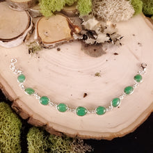 Load image into Gallery viewer, Chrysoprase Cabochon Bracelet
