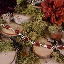 Load image into Gallery viewer, Carnelian Cabochon Bracelet