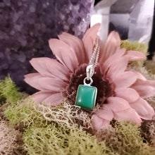 Load image into Gallery viewer, Chrysoprase Rectangular Cabochon Pendant