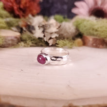 Load image into Gallery viewer, Oval Pink Tourmaline Hammered Ring