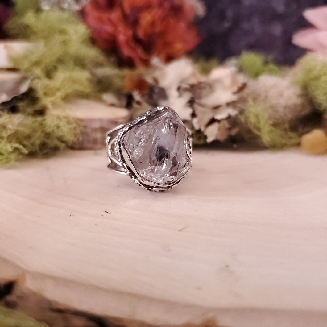 Diamond Quartz Ornate Men's Ring