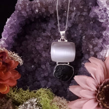 Load image into Gallery viewer, Selenite Tektite Grounding Pendant