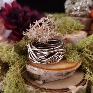 Silver Nest Abstract Ring