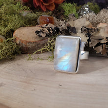 Load image into Gallery viewer, Rainbow Moonstone Statement Ring