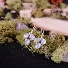 Load image into Gallery viewer, Rainbow Moonstone Grape Bunch Earrings
