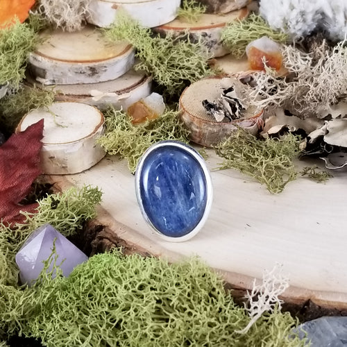 Blue Kyanite Freeform Ring