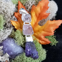 Load image into Gallery viewer, Diamond Quartz, Kunzite, Amethyst Pendant