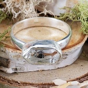 Diamond Quartz Side Set Rings