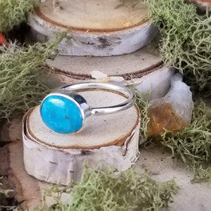 Turquoise Side Set Ring