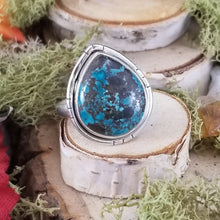 Load image into Gallery viewer, Tibetan Turquoise Drop Ring