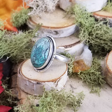 Load image into Gallery viewer, Oval Tibetan Turquoise Ring