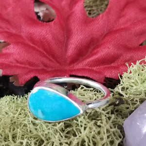Turquoise Side Set Drop Ring