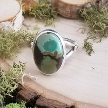 Load image into Gallery viewer, Turquoise Artisan Silver Ring