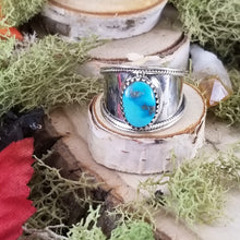Load image into Gallery viewer, Turquoise Wide Band Native Style Ring