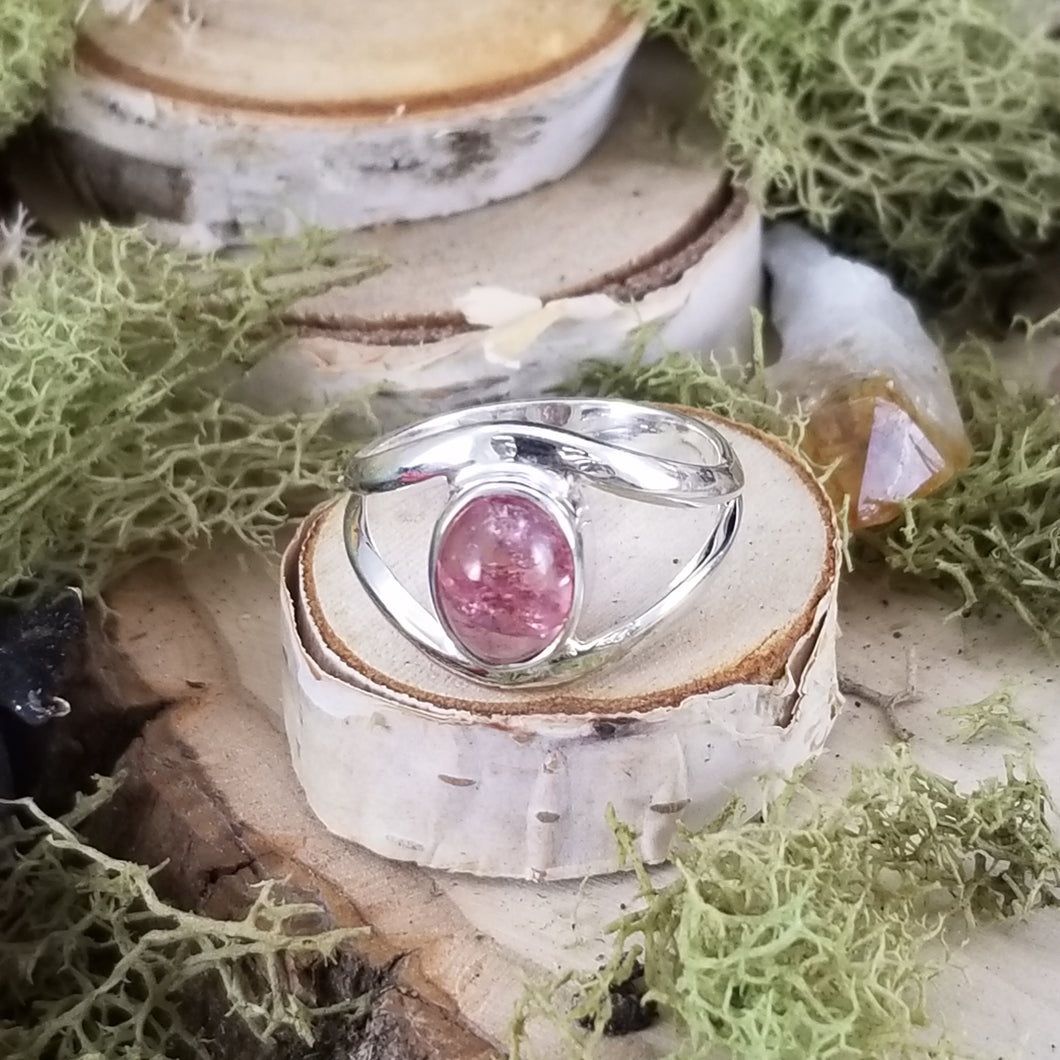 Pink Tourmaline Split Band Ring