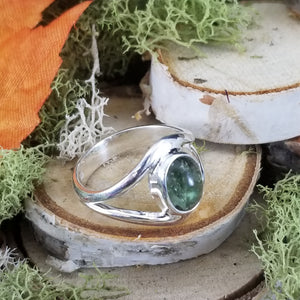 Green Tourmaline Split Band Ring