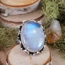 Load image into Gallery viewer, Rainbow Moonstone Decorative Ring