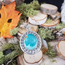 Load image into Gallery viewer, Turquoise Silver Burst Pendant