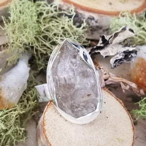 Diamond Quartz Natural Path Ring