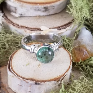 Light Blue Tourmaline Between The Lines Ring