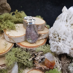 Top Drop Lodolite Quartz Pendant