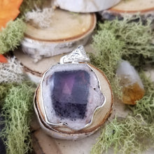 Load image into Gallery viewer, Floating Amethyst Chalcedony Pendant