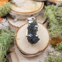 Load image into Gallery viewer, Moldavite Four Prong Pendant