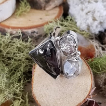 Load image into Gallery viewer, Shungite, Diamond Quartz, Pyrite Ring
