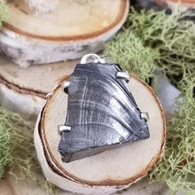 Load image into Gallery viewer, Raw Shungite Four Prong Pendant