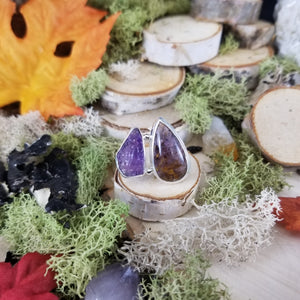 Cacoxenite Amethyst Ring