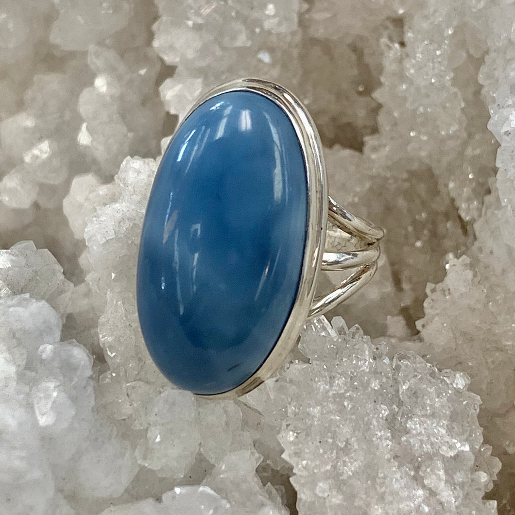 Blue Opal Vibes Silver Ring